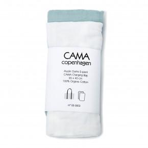 CAMA COPENHAGEN Stofblee 2pak - Hvid/cloudy blå