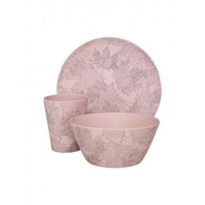 Sofie Schnoor - Tallerkensæt leaf print pink