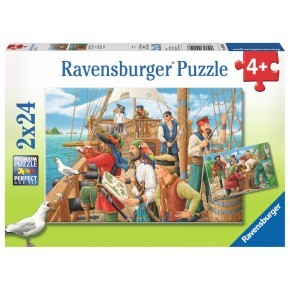Ravensburger - With the Pirates (2 x 24 pcs)