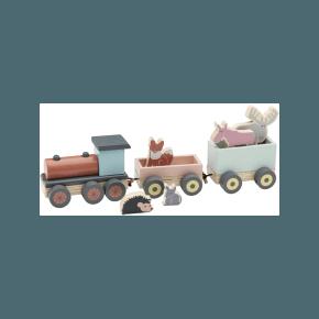 Kids Concept Edvin - Tog med dyr