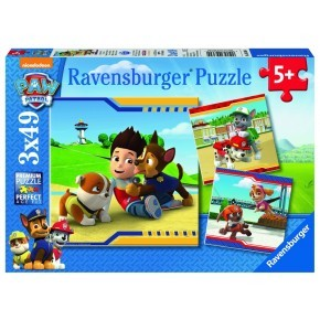 Paw Patrol Fury Heroes with coats puslespil