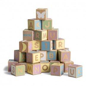 Micki byggeklodser - Alfabetet, pastel