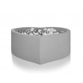 Kidkii boldbassin hjerte 100x40 cm - Light Grey