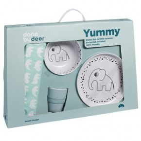Done By Deer - Dots Yummy Dinner set - Blue