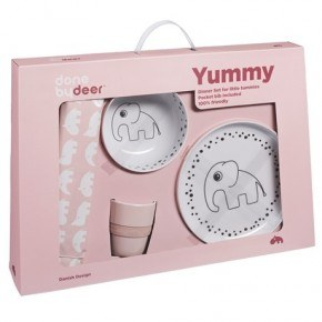 Done By Deer - Dots Yummy Dinner set - Powder