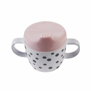 Done By Deer Dots 2 Handle Spout Cup - Powder