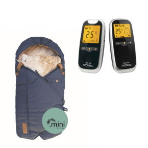 Neonate BC5800D Babyalarm + Sleepbag Mini - Midnight Petrol