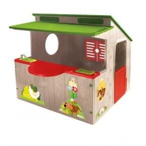 Elite Toys Legehus Country House - Brun