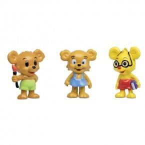 Bamse Figursæt - Nalle-Maja, Brum & Teddy