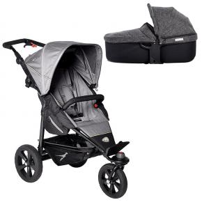 TFK Joggster Trail Klapvogn Grå + Quickfix Carrycot Premium Antracit