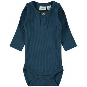 Name It baby rib bodystocking - Legion Blue