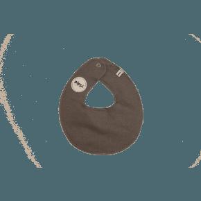 Grå Melange rund hagesmæk - Pippi
