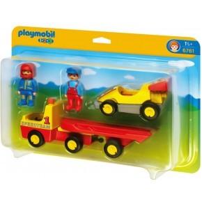 Autotransporter med racerbil (6761) - Playmobil 1.2.3
