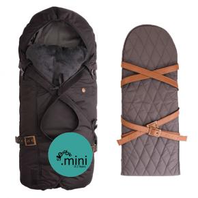 Sleepbag - Mini Sort / Grå + Bæreplade