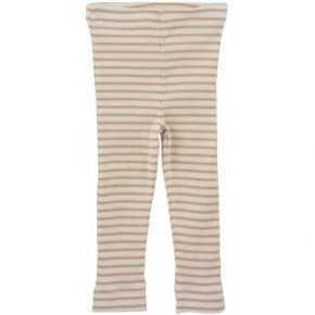 Petit Piao stribede leggings - beige