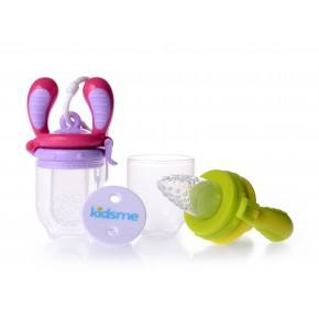 Pink/Lime Food Feeder startpakke - Kidsme