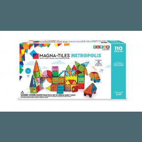 Magna Tiles,  Metropolis, 110 brikker - Klare farver