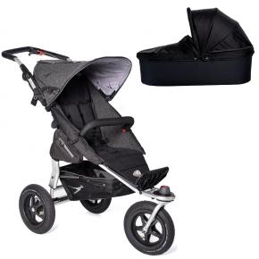 TFK Joggster Adventure Premium Klapvogn Antracit + Quickfix Carrycot Sort