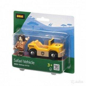 BRIO Safari Bil og figur Legetøj