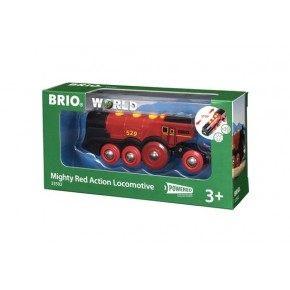 BRIO World - Rødt Batteridrevet Lokomotiv - 33592