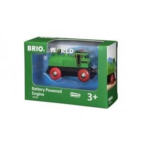 BRIO World - Batteridrevet Tovejs Lokomotiv - Grøn - 33595