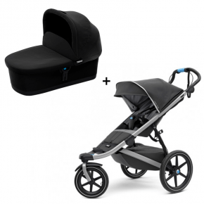 Thule Urban Glide 2 Klapvogn Dark Shadow + Bassinet Sort