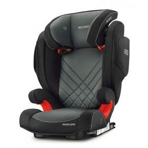 Recaro Monza Nova 2 Seatfix Autostol - Carbon Sort/Grå (Til isofix montering) DEMO