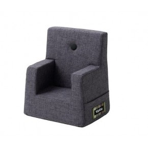 By KlipKlap Kids Chair XL - Blågrå m Grå Knap DEMO