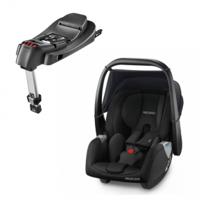 Recaro Privia Evo (Sort) + Base til Privia RECAROfix