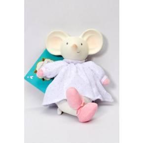 Mini Meiya bamse m gummihoved - Meiya og Alvin