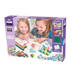 Plus-Plus 600 brikker - begyndersæt pastel