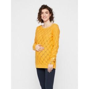 Mamalicious strikket trøje - golden apricot