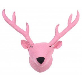 KidsDepot Zoo Dyrehoved - Rensdyr, Pink