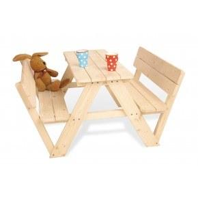 Pinolino Havemøbelsæt med ryglæn til børn, 4 pers - Nicki, Fyr