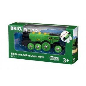 BRIO World - Grønt Lokomotiv - Batteridrevet - 33593