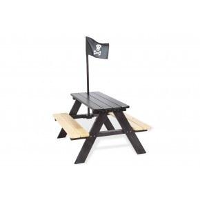 Pinolino Havemøbelsæt til børn, 4 pers - Nicki, Sort Pirat