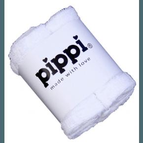 Hvid 4-pak vaskeklude - Pippi