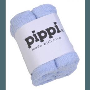 Lyseblå 4-pak vaskeklude - Pippi