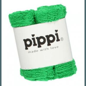 Grøn 4-pak vaskeklude - Pippi