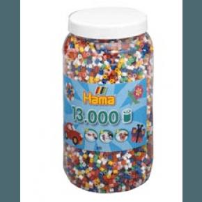 HAMA Hama midi perler 13.000 stk 10 farver