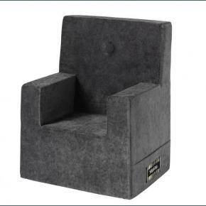 By KlipKlap Stol XL - Grey w dark grey velour