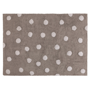 Lorena Canals gulvtæppe - Polka Dots Grå