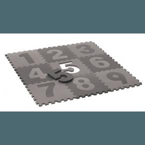 Pixizoo Legegulv med tal, 30x30 cm - Grå/lysegrå