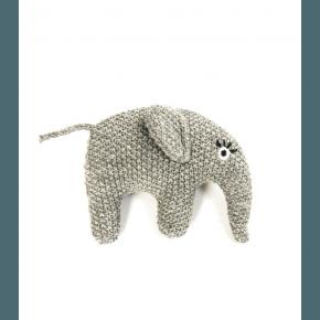 Smallstuff rangle, strikket elefant, grå