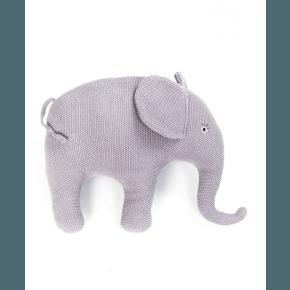 Smallstuff pude, strikket elefant, lilla