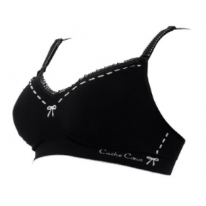 Cache Coeur Lingerie Illusion Amme BH, Str. XL - Sort