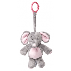 My Teddy, My First Elephant, clip-on - Grå/rosa