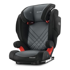 Recaro Monza Nova 2 Seatfix Autostol - Carbon Sort/Grå (Til isofix montering)