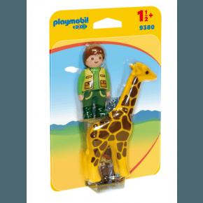Playmobil Dyrepasser med Giraf