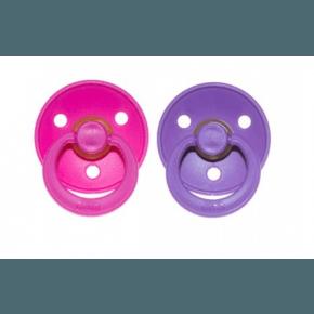 Bibs Sutter - 2 stk, Pink og Lilla